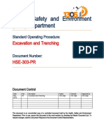 HSE-303-PR Excavation and Trenching