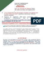 ACTIVIDAD ARTICULO DE OPINION