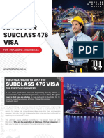Skilled Recognised Graduate Visa Subclass 476 Guide