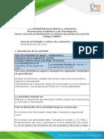 Formato Guia de actividades y Rubrica de evaluacion -Fase 1 - Reconocimiento de curso