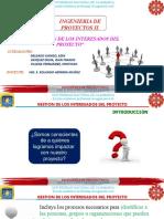 10.0 GESTION DE LOS INTERESADOS DEL PROYECTO