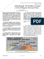 """Finding Silver Lining Through """"My Brother's Keeper"""" Squad System in the Philippine National Police"""