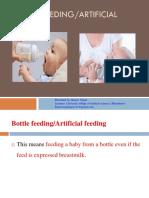 Bottle Feeding or Artificial Feeding