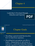 Leadership Development through Education and Experience