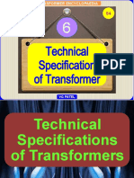 TECHNICAL SPECIFICATIONS OF TRANSFORMERS 28.6.2020