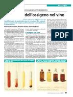 Controllo dell'ossigeno nel vino
