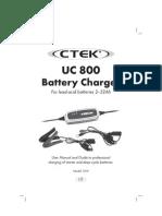 CTEK UC800 Manual