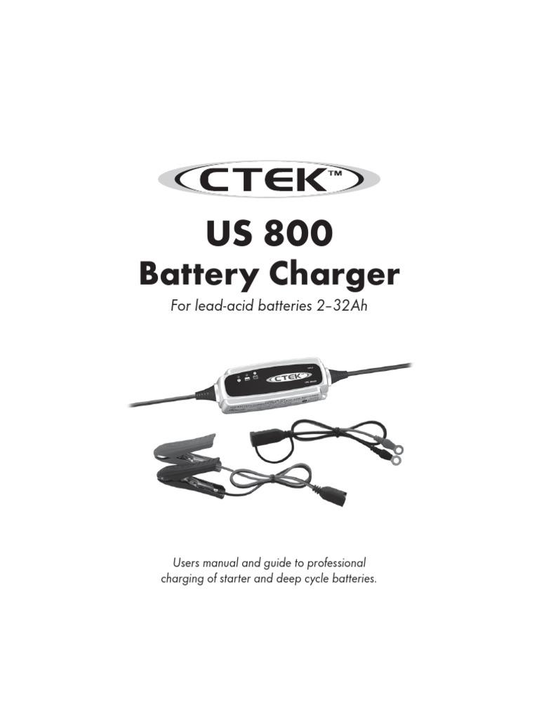 Ctek Us800 Manual Battery Charger Electricity Desulphation Progress Monitor