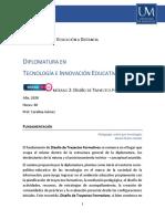Programa - Diseño de trayectos formativos