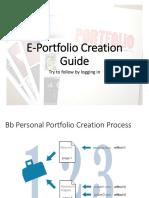 E-portfolio creation guide