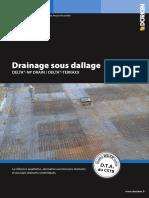 Drainage sous dallage