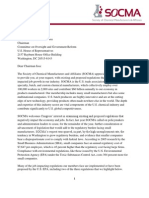 Society of Chemical Manufacturers & Affiliates Letter to Chairman Issa - January 10, 2011