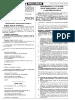 LEY 27927 - Ley que modifica la Ley N° 27806 Ley de Transparencia y Acceso a la Información Publica (4 págs)