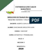 TRABAJO DE 2DAUNIDAD ESTADISTICA (DAVID MAURO AROCUTIPA HUISA)