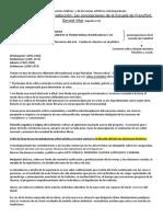 Las concepciones de la Escuela de Francfort. Gerard Vilar