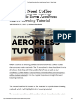 AeroPress Coffee Brewing Tutorial