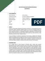 SILABO - Práctica e investigación I