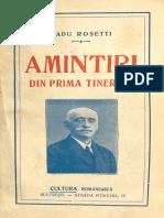 Amintiri din prima tinerete (1927) - Radu Rosetti