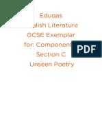Unseen Poetry Exemplar