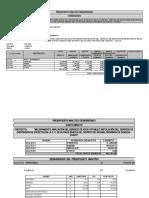 Presupuesto analítico - PN