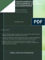 REGIMEN DISCIPLINARIOS DE LOS EMPLEADOS Y FUNCIONARIOS JUDICIALES