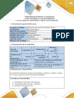 Guía de actividades y rúbrica de evaluación - Fase 1 - Orígenes