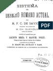 Sistema del Derecho Romano Actual - Tomo III.