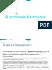 A pessoa humana - Sec UL7