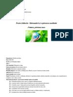 proiect didactic ed ecologică