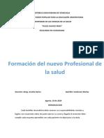 Tema 2. Formación del nuevo Profesional de la salud_