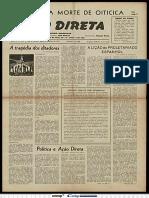 5. Ação Direta, 1957, Agosto e Setembro. Ano 11, Nº 120. Há um texto do Mário chamado Política e Ação Direta