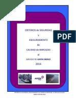 Axion Criterios de Barcazas 2014