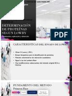 DETERMINACIÓN DE PROTEÍNAS SEGUN LOWRY