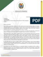 Comunicación del presidente (E) Juan Guaidó a Borrell.