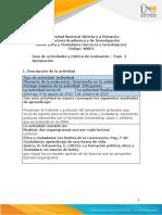 Guia de actividades y Rúbrica de evaluación - Unidad 2 - Fase 2 - Apropiación.
