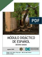 MÓDULO DE ESPAÑOL 10