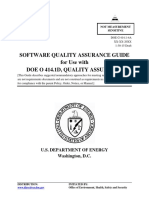 Software Quality Assurance Guide for Use with DOE O 414.1D, Quality Assurance ( PDFDrive.com )