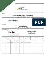 Câble 570mm²  cKH-CEG-PEL-NDC-0029.A.Note de Calcul Des Cbles Almelec 570mm