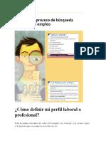 Cómo definir mi perfil laboral o profesional