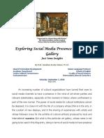 Exploring Social Media Presence of an Art Gallery
