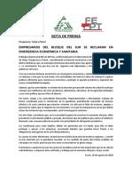NOTA DE PRENSA 18-08-2020