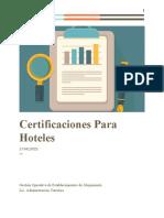Certificaciones para hoteles