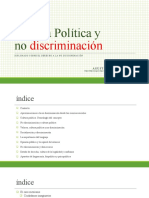 Cultura política y No Discriminación