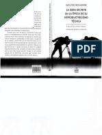 BENJAMIN La obra de arte en la epoca de su reproduccion mecanica.pdf
