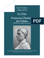 PROMIS Carlo. Life of Francesco Paciotto da Urbino (1521-1591), military architect. 1863