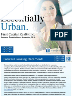 FCR Investor  Pesentation - Nov 2010 - FINAL