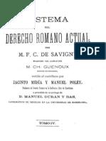 Sistema del Derecho Romano Actual - Tomo IV.