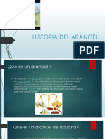 INICIO DEL ARANCEL
