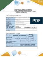Guía de Actividades y Rubrica de evaluación - Fase 1 - Actividad Introductoria