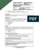 NUMERO DE LA ACTIVIDAD 16 - HITO ASEO Y VARIOS ESPECIFICACIONES TECNICAS - 12-12-2017
